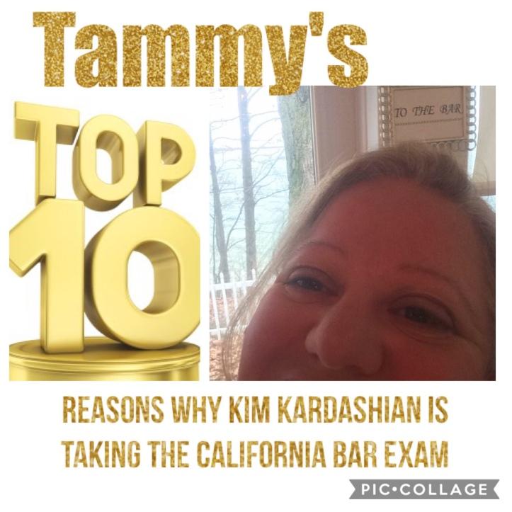 Top Ten Reasons for Kim Kardashian to take the California